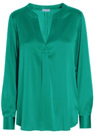 DEA KUDIBAL Santena Silk Blouse - Green