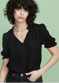 MAYLA Evelyn Blouse - Black