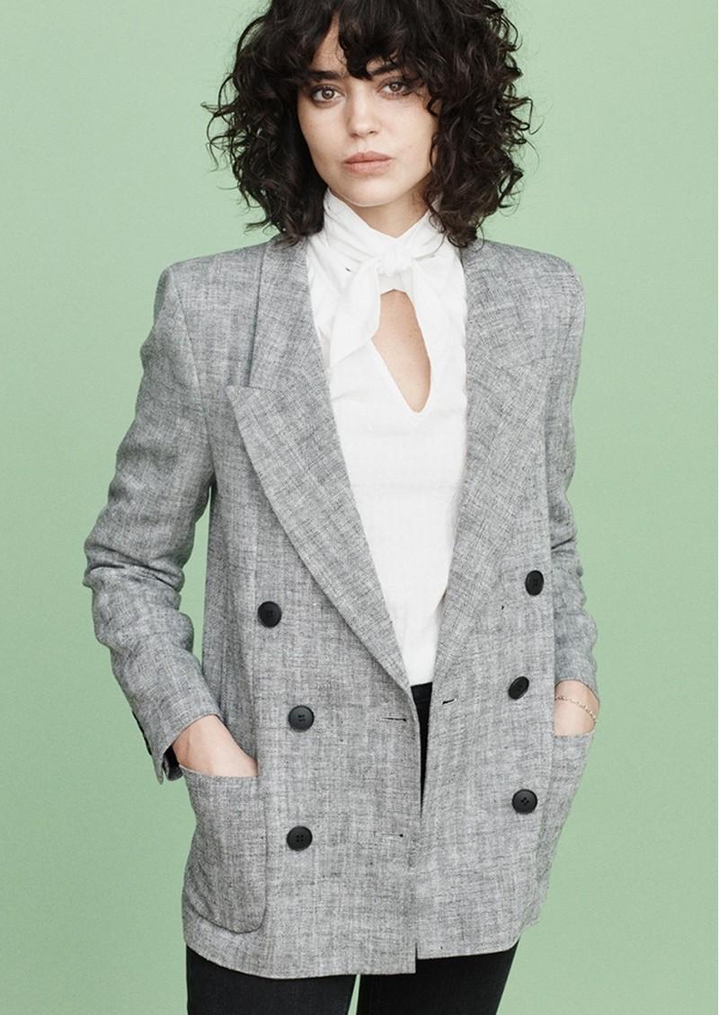 MAYLA Charlie Blazer - Black & White main image