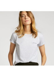 MAISON LABICHE Amour Organic GOTS Cotton Tee - Light Heather Grey