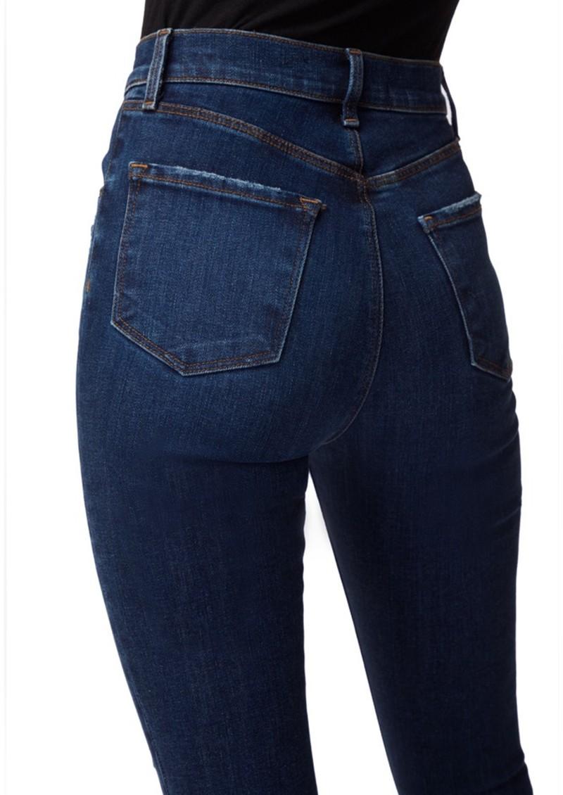 J Brand Leenah Super High Rise Ankle Skinny Jeans - Arcade Destruct main image