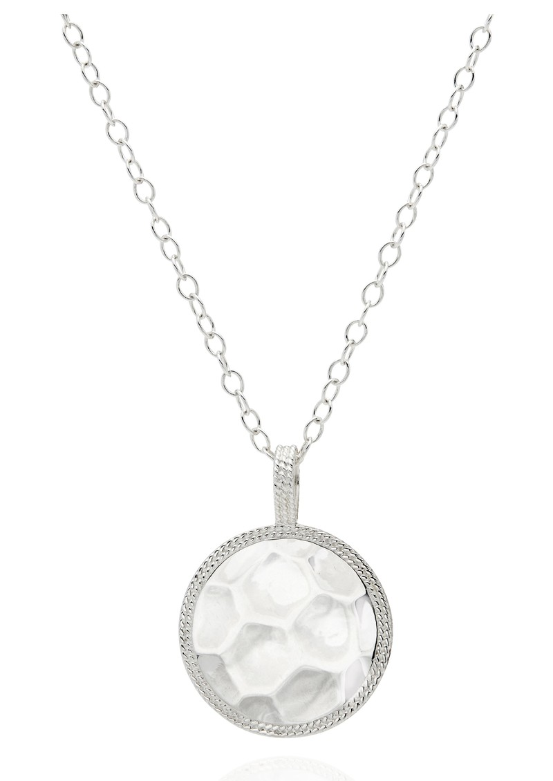 ANNA BECK Signature Hammered & Dotted Reversible Circle Pendant Necklace - Gold & Silver main image
