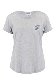MAISON LABICHE Rever Aimer Organic GOTS Cotton Tee - Light Heather Grey