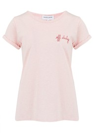 MAISON LABICHE Off Duty Organic GOTS Cotton Tee - Heather Pink