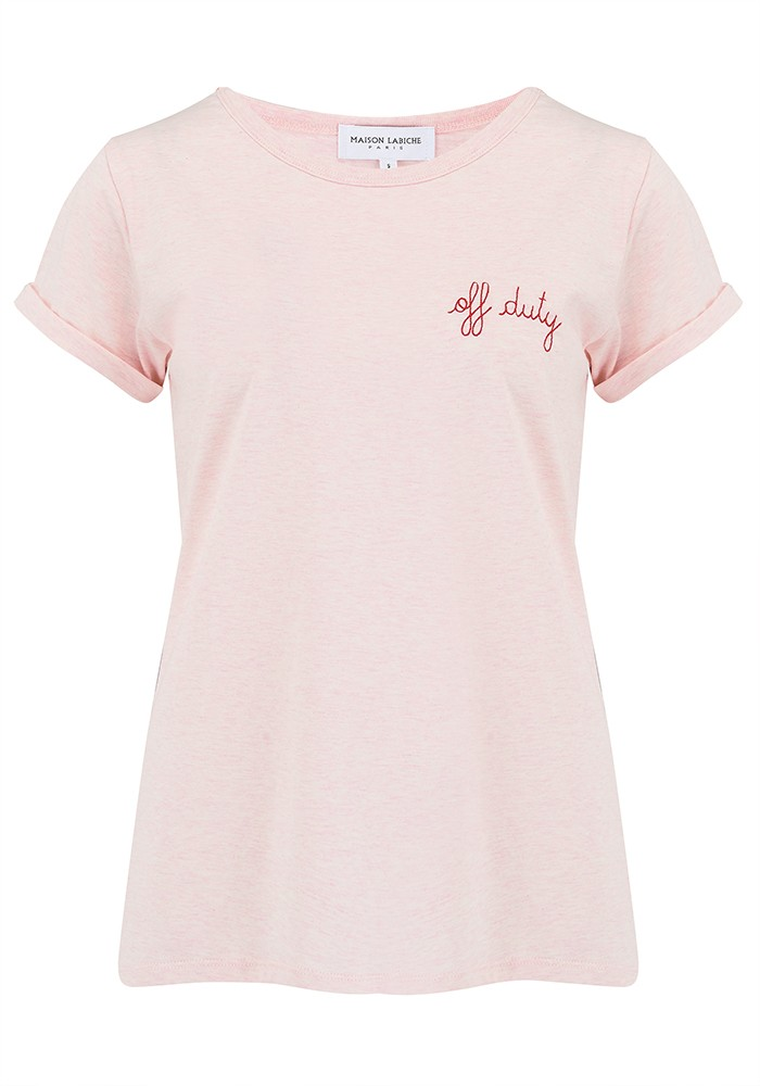 Off Duty Organic GOTS Cotton Tee - Heather Pink main image
