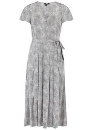 Paige Denim Alayna Python Printed Midi Dress - Silver