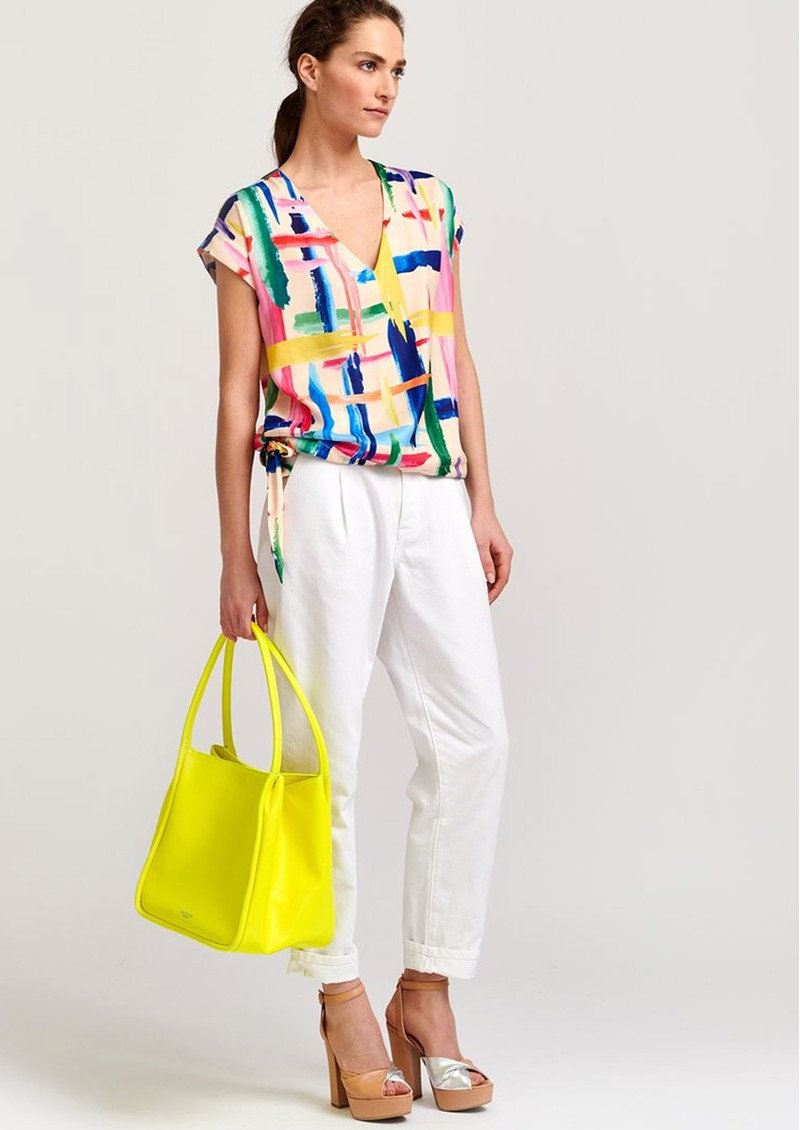 ESSENTIEL ANTWERP Veda Top - Off White & Multi main image