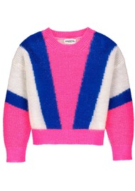 ESSENTIEL ANTWERP Vermouth Sweater - Pink, Blue & White
