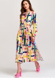 ESSENTIEL ANTWERP Valila Long Shirt Dress - Off White & Multi
