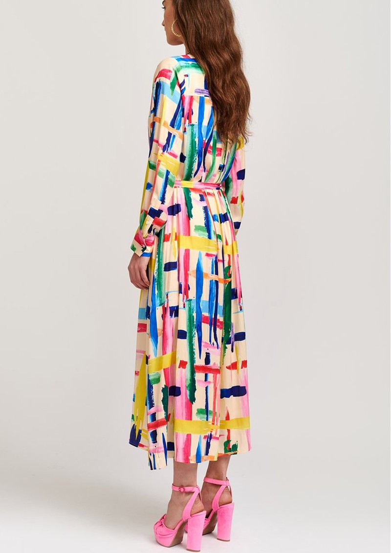 ESSENTIEL ANTWERP Valila Long Shirt Dress - Off White & Multi main image