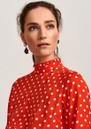 Vazongas Polka Dot Dress - Berry Red additional image