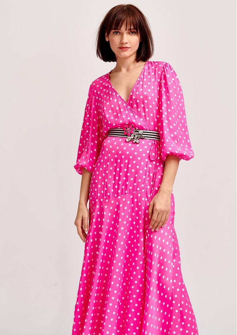 ESSENTIEL ANTWERP Vundamental Polka Dot Wrap Dress - Pink main image