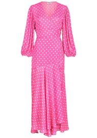 ESSENTIEL ANTWERP Vundamental Polka Dot Wrap Dress - Pink
