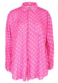 ESSENTIEL ANTWERP Viral Polka Dot Print Shirt - Pink