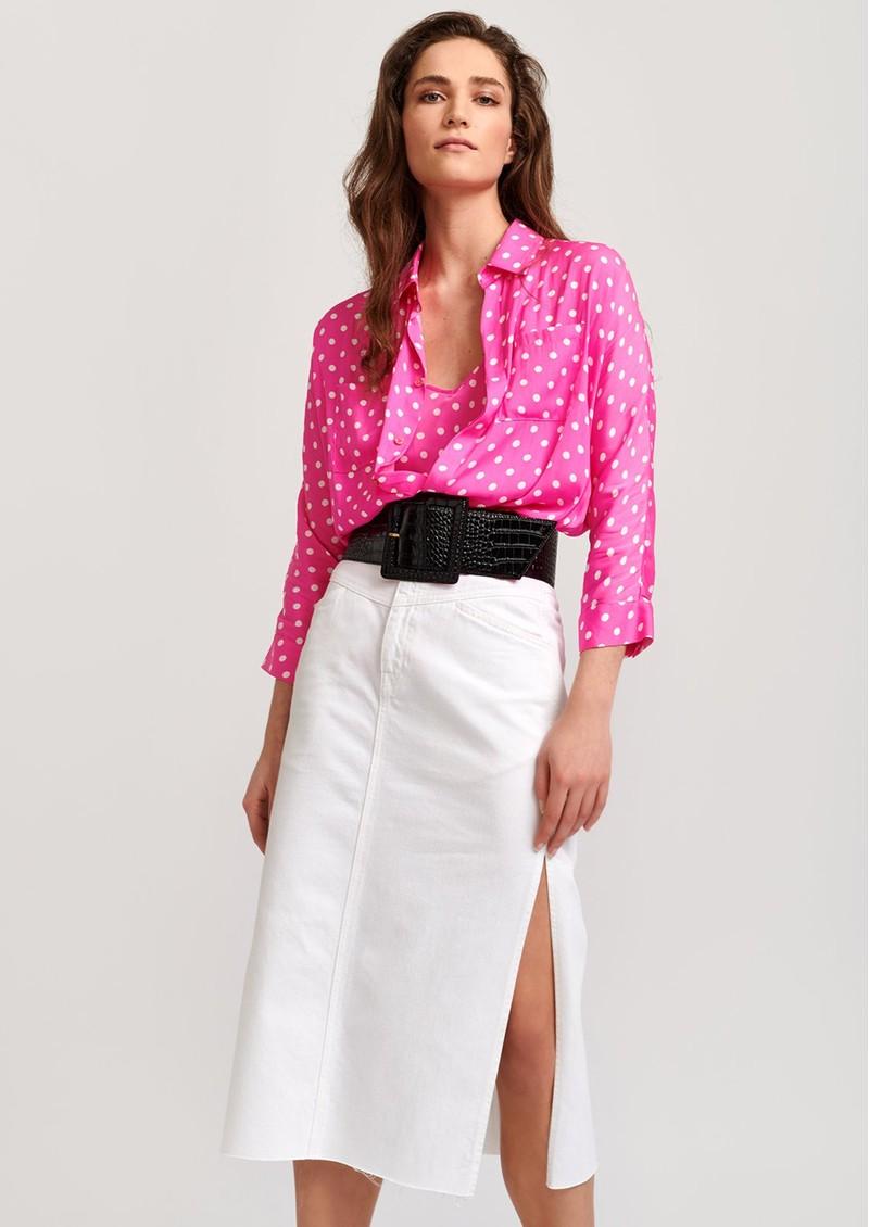 ESSENTIEL ANTWERP Viral Polka Dot Print Shirt - Pink main image