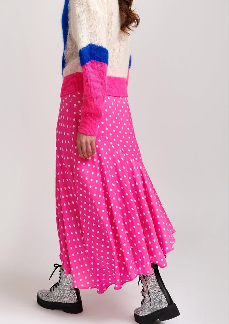 ESSENTIEL ANTWERP Vadorable Polka Dot Midi Skirt in Pink main image