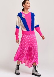 ESSENTIEL ANTWERP Vadorable Polka Dot Midi Skirt in Pink