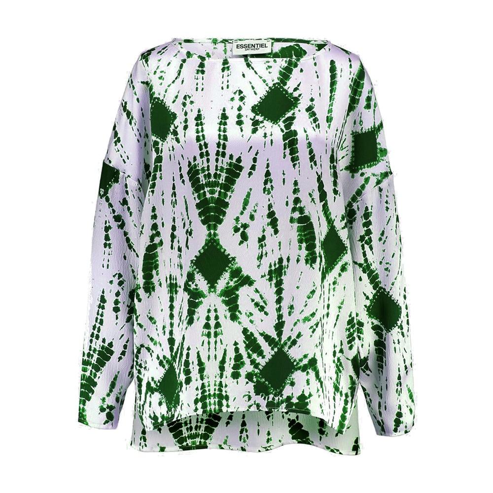 Viktoria Dropped Shoulder Tie-Dye Top - Green