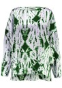 ESSENTIEL ANTWERP Viktoria Dropped Shoulder Tie-Dye Top - Green