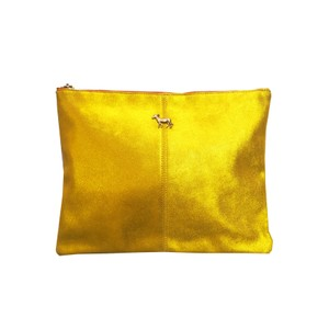 Sunrise Leather Donkey Clutch Bag - Paille