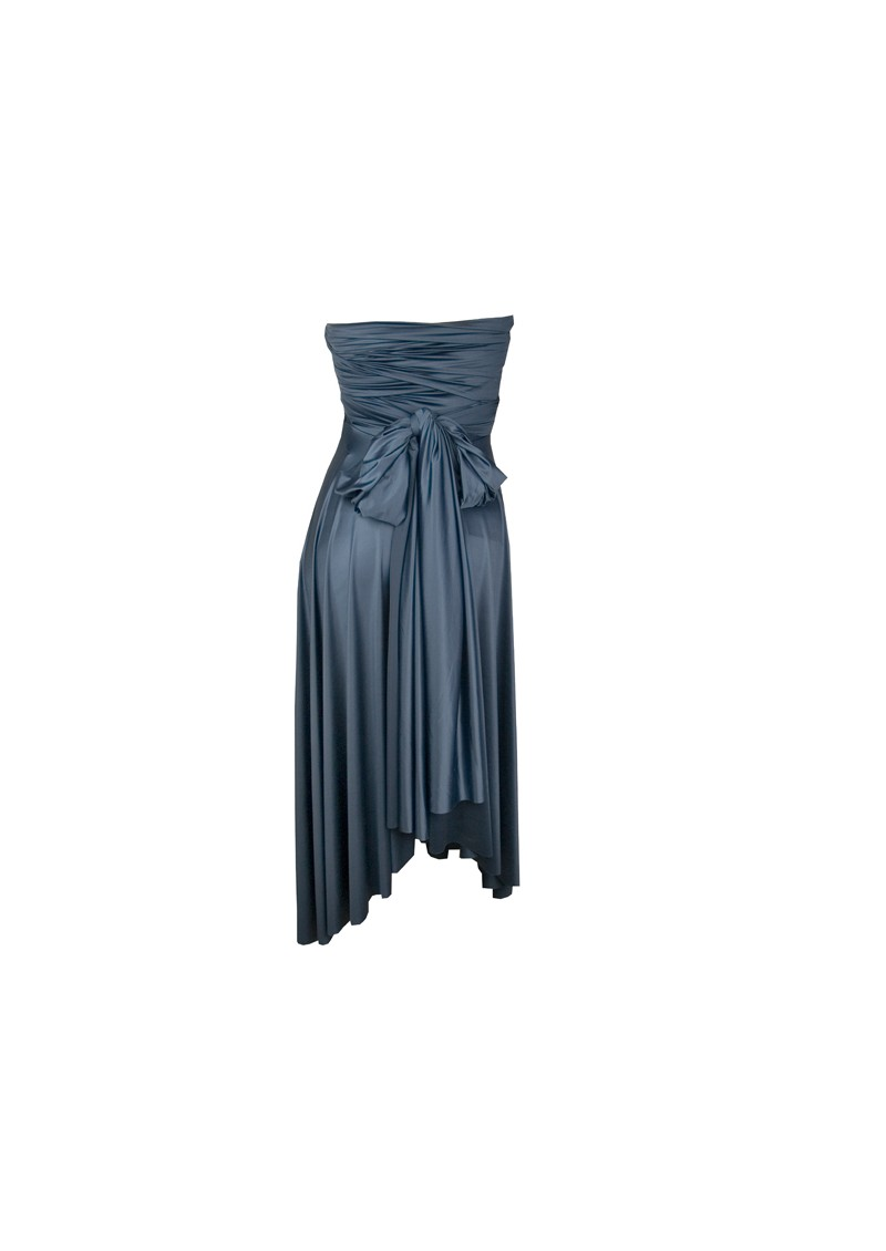 Butter By Nadia Signature Short Satin Dress - Navy main image