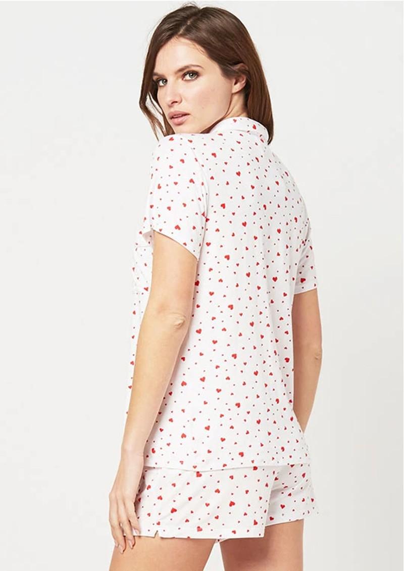 STRIPE & STARE Pyjama Set - Scatter Hearts main image