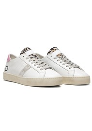 D.A.T.E Hill Low Trainers - White & Pink