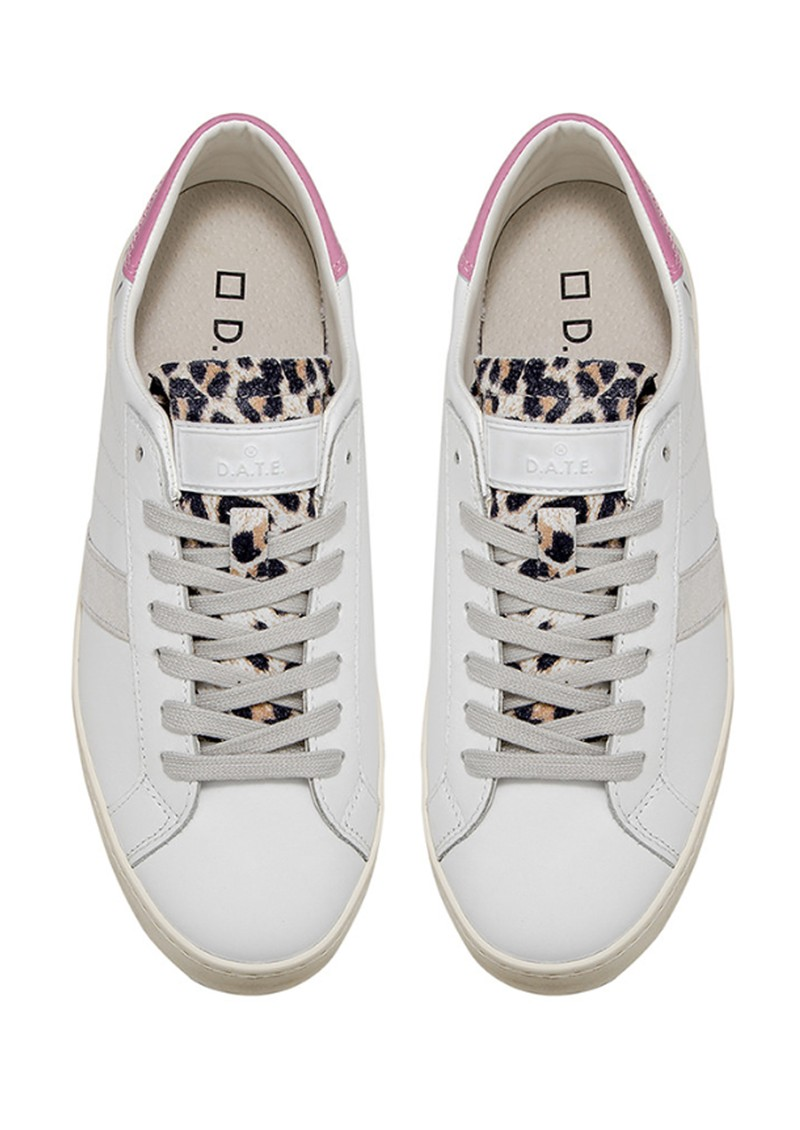 D.A.T.E Hill Low Trainers - White & Pink main image