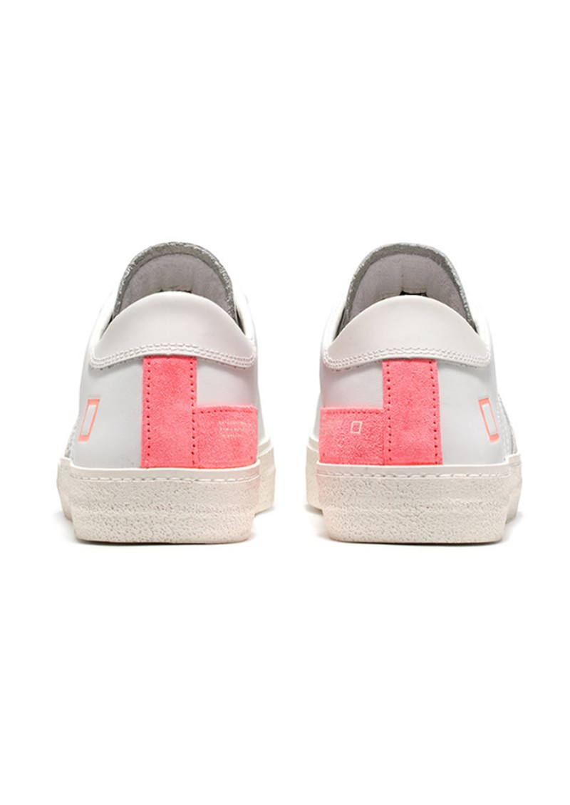 Hill Low Trainers - White & Fluro Coral main image