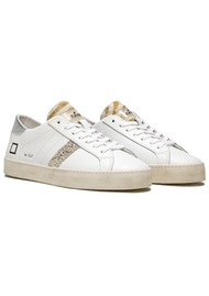 D.A.T.E Hill Low Trainers - White & Silver