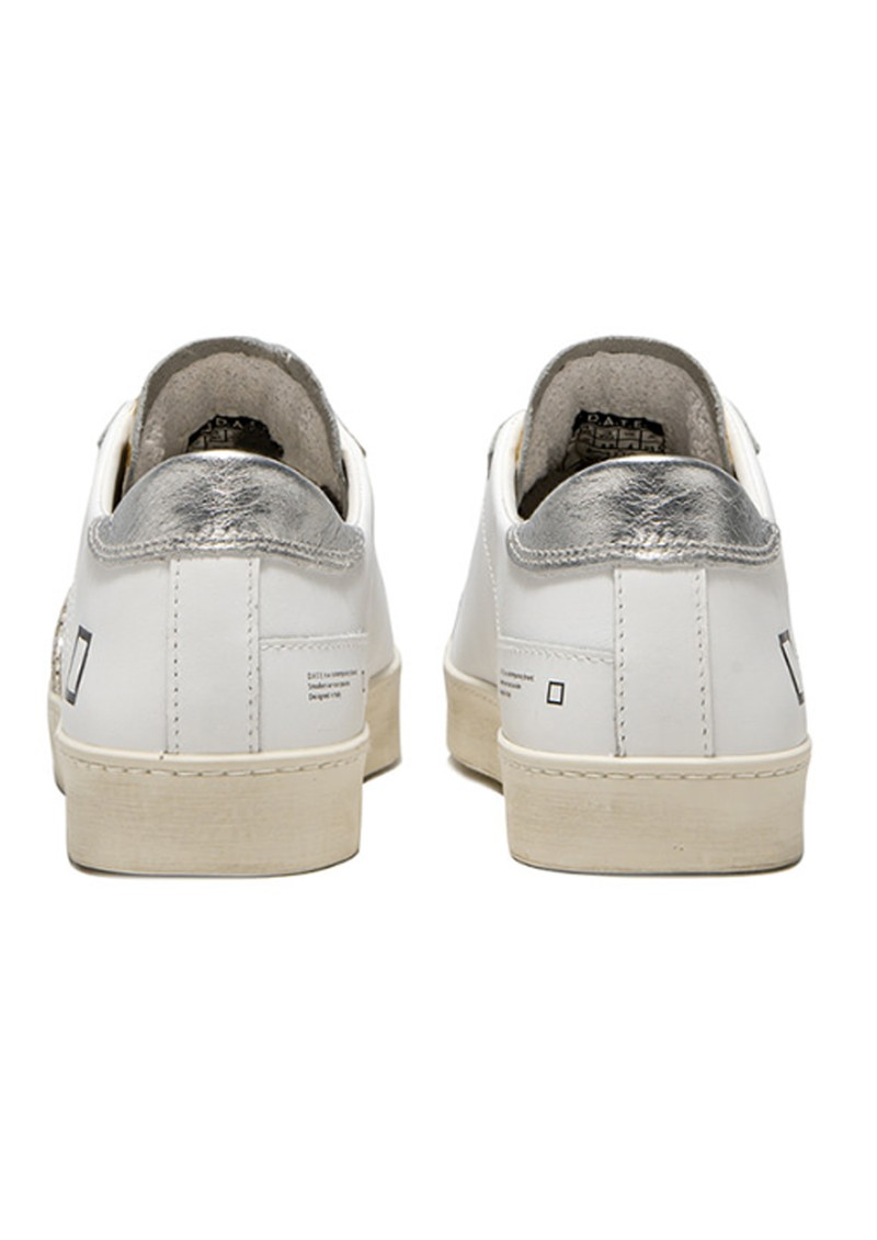 D.A.T.E Hill Low Trainers - White & Silver main image