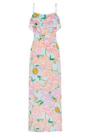 HAYLEY MENZIES Maxi Frill Silk Dress - Luna Floral
