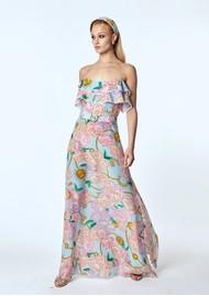 HAYLEY MENZIES Maxi Frill Silk Dress - Luna Floral