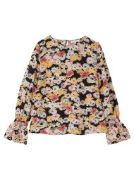 Lily and Lionel Dakota Silk Blouse - Confetti Black