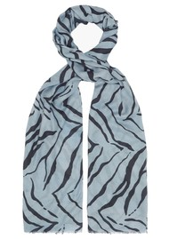 Lily and Lionel Blue Tiger Cashmere Mix Scarf - Blue