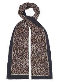 Lily and Lionel Wild Cat Cashmere Mix Scarf - Multi