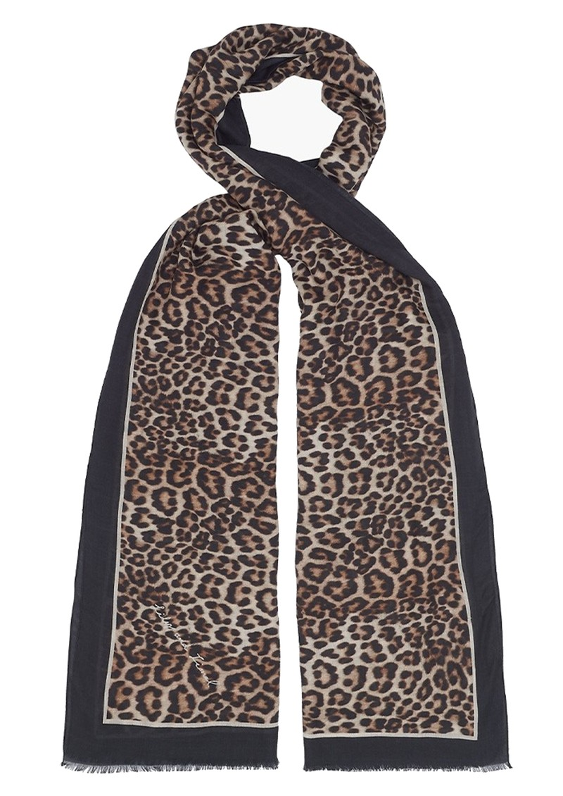 Lily and Lionel Wild Cat Cashmere Mix Scarf - Multi main image