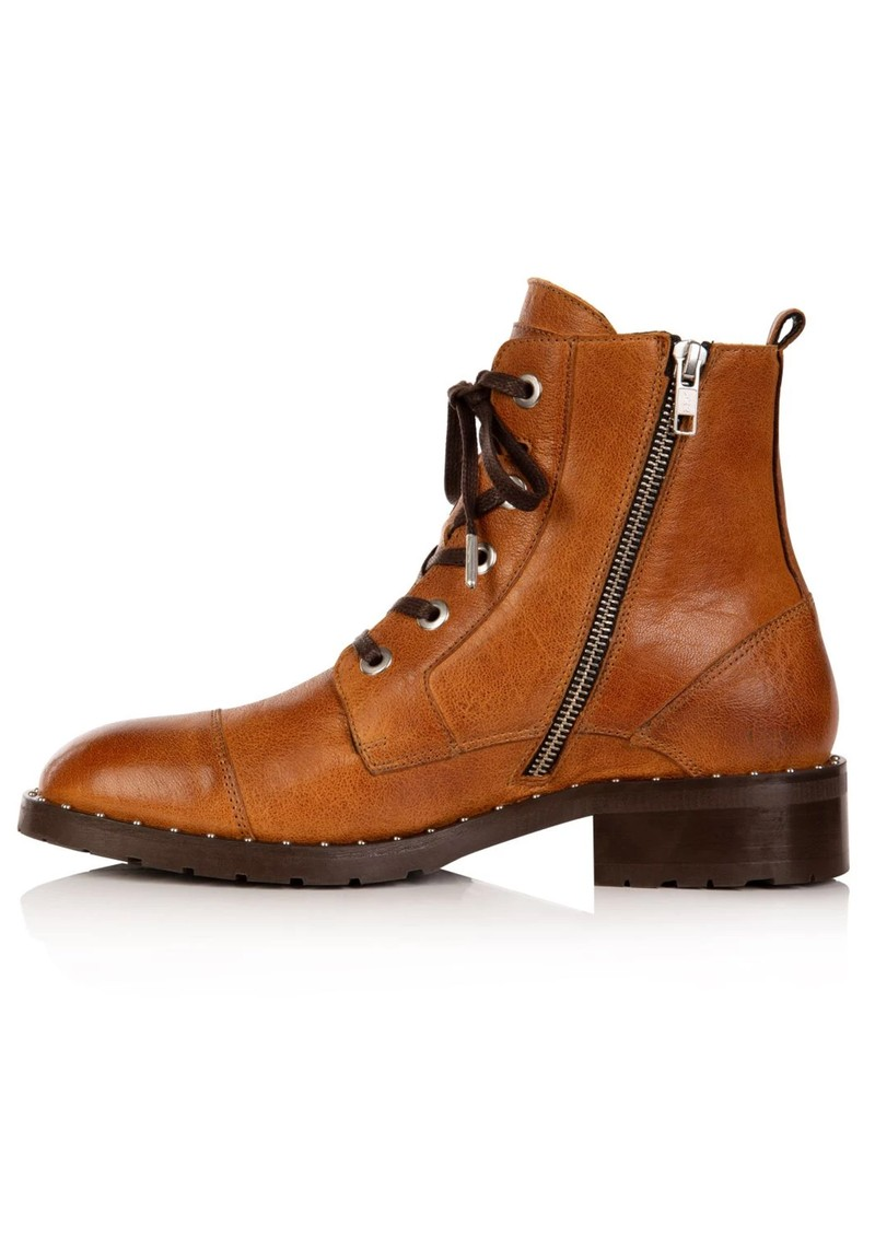 AIR & GRACE Jessa Lace Up Leather Boot - Tan main image