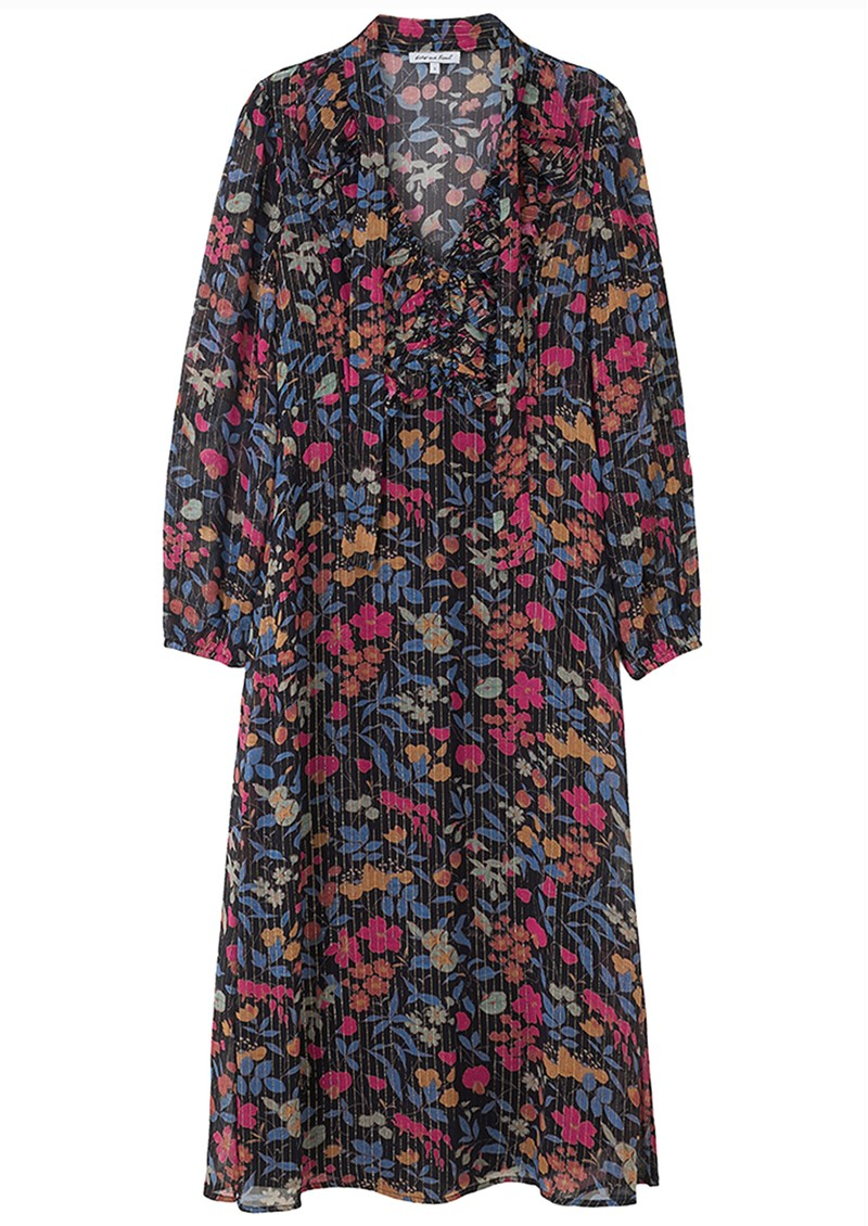 Lily and Lionel 70s Maxi Dress - Black Jasmine main image