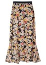 Lily and Lionel Ford Floral Silk Skirt - Confetti Black