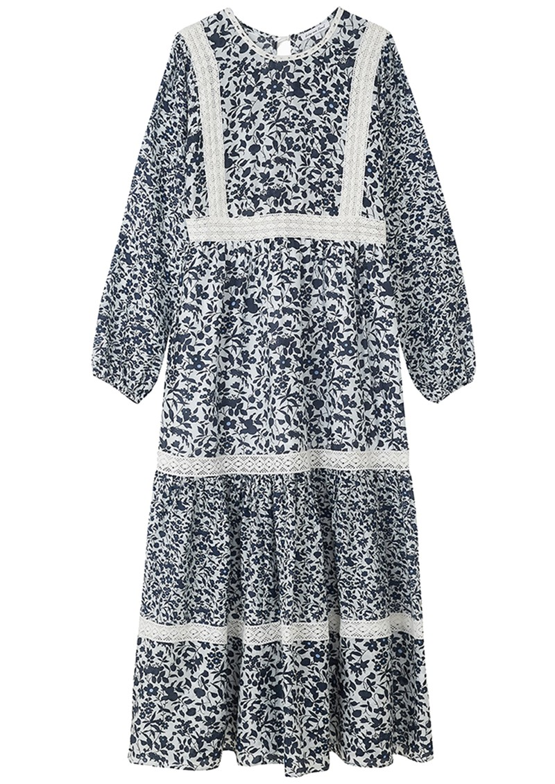 Lily and Lionel Lara Silk Mix Dress - Blossom White main image