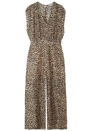 Lily and Lionel Effie Silk Mix Leopard Jumpsuit - Vintage Animal
