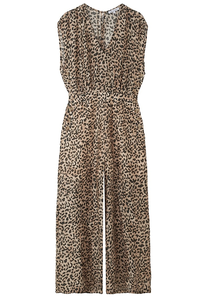 Lily and Lionel Effie Silk Mix Leopard Jumpsuit - Vintage Animal main image