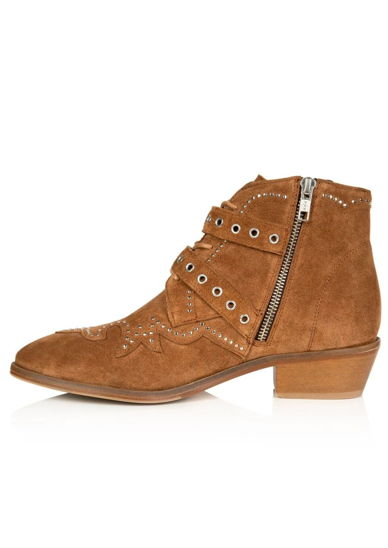 Starlight Suede Studded Ankle Boot - Tan main image