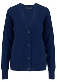 360 SWEATER Kristen Cashmere Cardigan - Navy