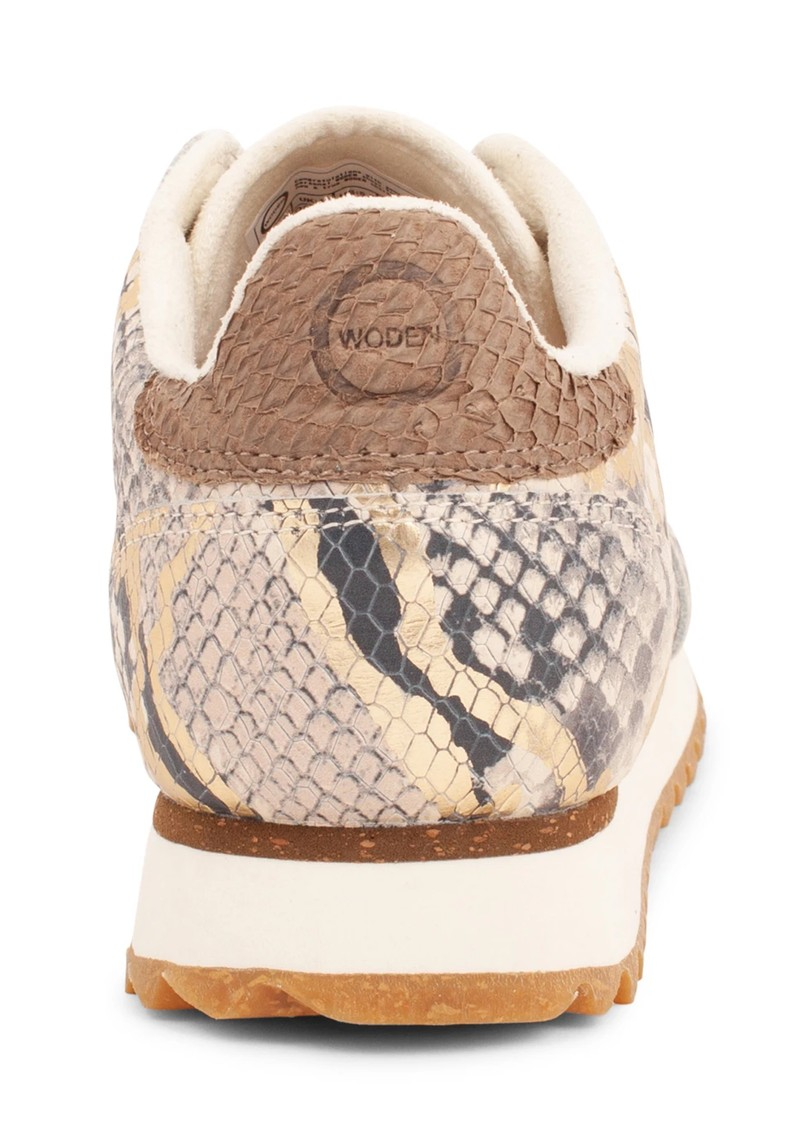 WODEN Ydun Snake Metallic Trainer - Off White main image