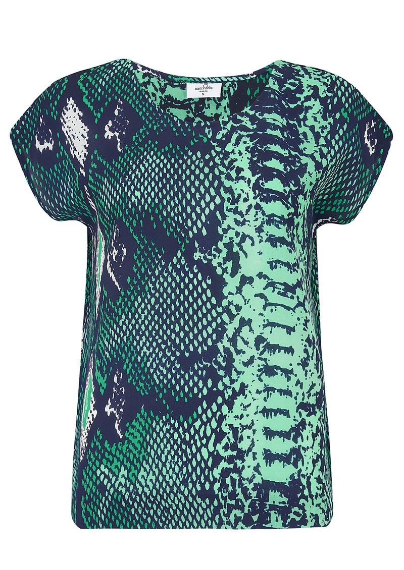 Mercy Delta Blair Silk Top - Python Jungle main image