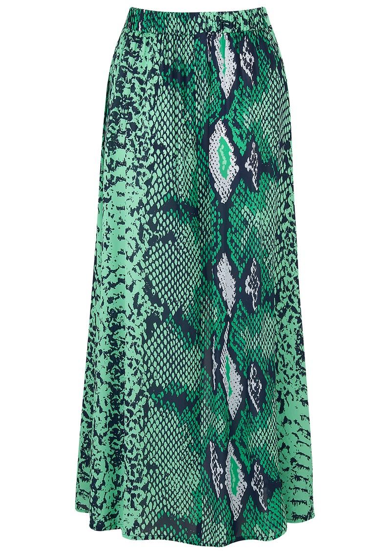 Mercy Delta Moulton Midi Skirt - Python Jungle main image