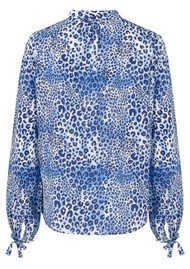 Mercy Delta Hinton Silk Blouse - Cheetah Sea