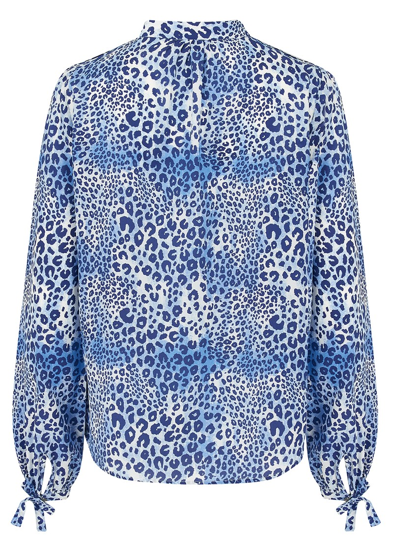 Mercy Delta Hinton Silk Blouse - Cheetah Sea main image